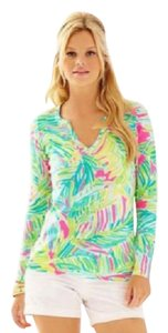 Lilly Pulitzer Tropical Storm Kayleigh Kayleigh Long Sleeve Top Tropical Pink