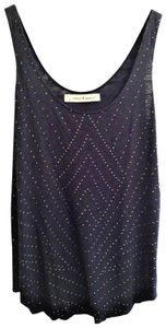 Graham & Spencer Studded With Studs Studded Grey Top Charcoal