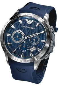 Emporio Armani 100% New Emporio Armani AR0649 Men's Chronograph Rubber Strap Watch