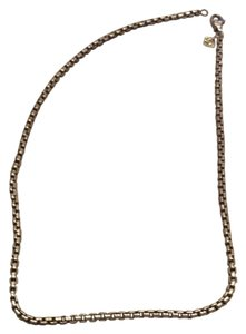David Yurman Round box chain in sterling silver and yellow gold
