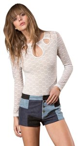 WYLDR Nasty Gal Lace Top White