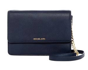 Michael Kors Daniela Admiral Pebbled Leather Cross Body Bag