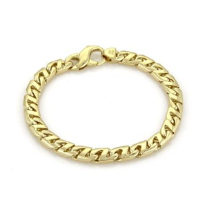 Tiffany & Co. 18k Yellow Gold Square Curb Link Chain Bracelet