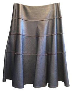 Rebecca Taylor Faux Leather Skirt Blue