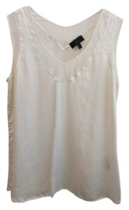 Banana Republic Silk Sleeveless V-neck Flowy Top Ivory