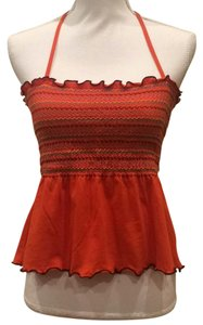 Saks Fifth Avenue 5|48 Halter Halter Summer Orange Halter Top