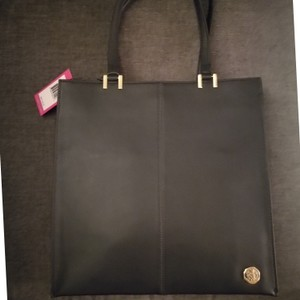 Vince Camuto Great Pockets Leather Gold Hardware Tote in Graphite