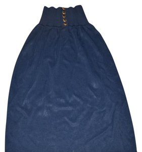 Chanel Skirt navy gold