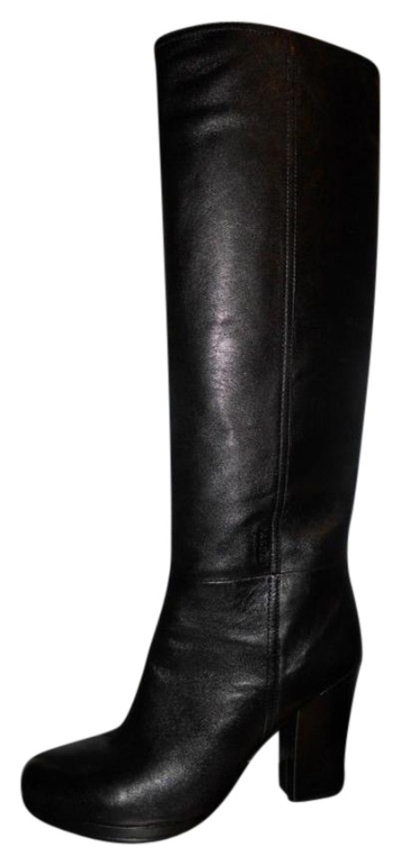 prada leather tall knee high heels size 40 black boots on sale 39 off boots booties on sale. Black Bedroom Furniture Sets. Home Design Ideas