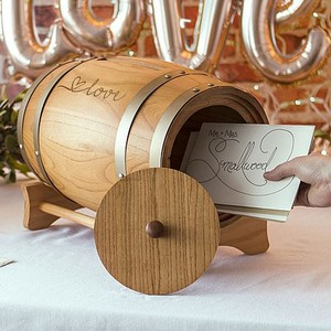 "Unique ""love"" Wine Barrel Gift Card Holder"