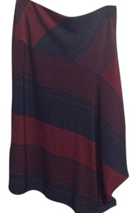 Tory Burch Skirt Red blue navy stripe