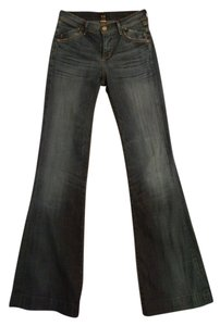 Citizens of Humanity Hutton Trouser/Wide Leg Jeans-Medium Wash