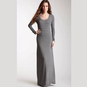 gray & white Maxi Dress by Saint Grace