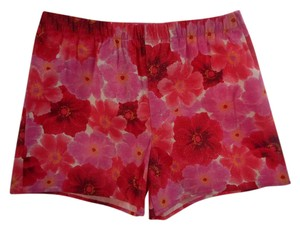 Donna Nicoloe Stretchy Pretty Shorts Sparkly White Pink & Red Floral