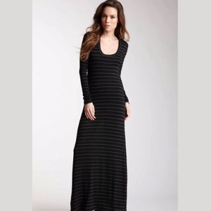 black & gray Maxi Dress by Saint Grace