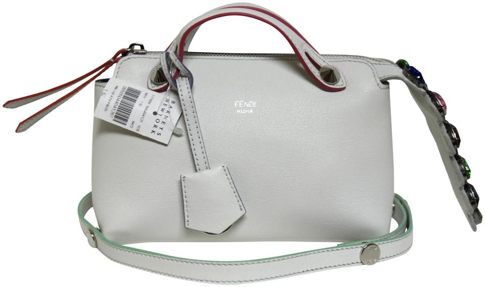 28262c3a76b Fendi Messenger New By The Way Mini Calf Crystal White Ice Leather Cross  Body Bag
