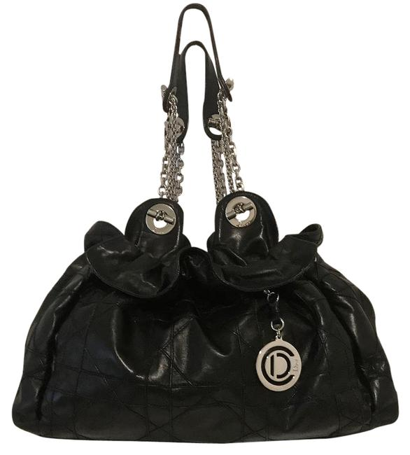 Item - Shopping Tote Le 30 Collection Le Trente Cannage Euc Black Lambskin Leather Shoulder Bag