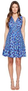 Kate Spade short dress cobalt blue Tangier Floral Fit And Flare on Tradesy