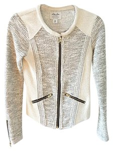 Lucky Brand Knit Moto Gold Motorcycle Jacket