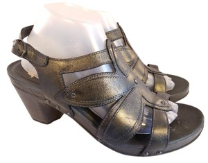 Dansko Leather Studded Black Sandals