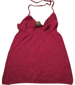 LOUIS VUITTON RUNWAY CASHMERE SILK LADIES TANK TOP Top Red