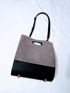 Alexander Wang Leather Tote in grey/black