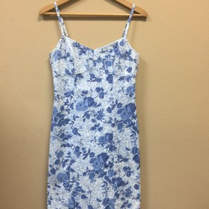 Ann Taylor Loft Sundress short dress Blue & White on Tradesy