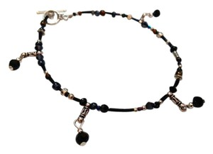 Other New Black & SIlver Anklet Handmade 10 in. J3286