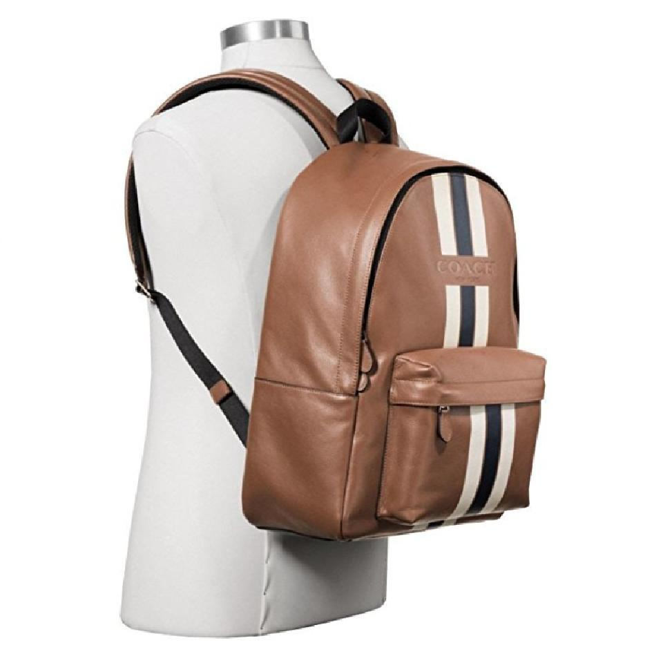 772f37f9eb11 ... leather da1e2 7194b coupon code for coach new blue brown backpack 64a42  1f072 ...