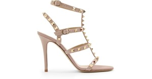 Valentino Rockstud Heel Rockstud Caged Sold Out T Strap poudre Sandals