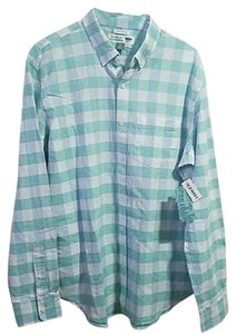 Old Navy Button Down Shirt Mint & white