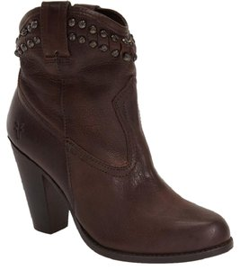Frye Studded Short Brown Boots