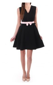 Ted Baker short dress BLACK Vexi V-neck Bow Details Lbd on Tradesy