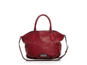 Marc Jacobs Tote Italian Leather Red Mj Convertible Tote Shoulder Bag