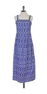 Brooks Brothers Blue & White Printed Dress