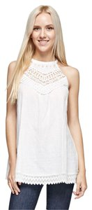 B Sharp White Halter Top Ivory