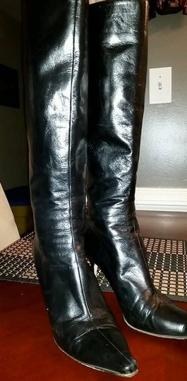 Jimmy Choo Knee High Black Boots