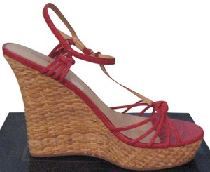 Colin Stuart Espadrille Red Vacation Paprika Wedges
