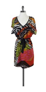 Trina Turk short dress Multi Color Mixed Animal Print Silk on Tradesy