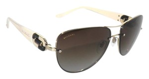 BVLGARI BVLGARI 6053BM Beige Pale Gold / Brown Gradient Aviator Sunglas