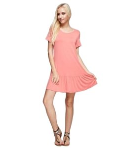 B Sharp short dress Dark Coral Bamboo Short Sleeve on Tradesy