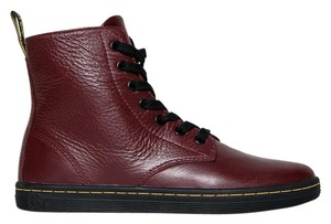 Dr. Martens Lace Up Ankle Traditional Leather Closed Toe Red Boots