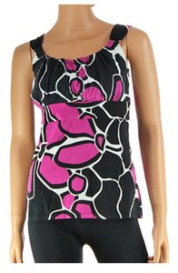 Ann Taylor Pink Blue Green Top MultiColor