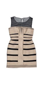 BCBGMAXAZRIA short dress Champagne Bandage Style With Mesh on Tradesy
