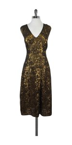 Tracy Reese short dress Black Gold Sequin Losange on Tradesy