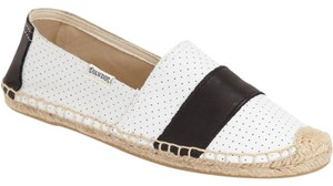 Soludos White and black Flats