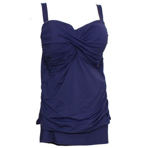 Anne Cole Twist Front Strapless Skirted Tankini Swimsuit 24W