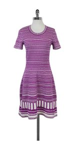 Oscar de la Renta short dress White Printed Knit on Tradesy