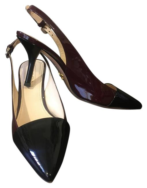 Item - Black/ Burgundy Heels Formal Shoes Size US 7 Narrow (Aa, N)