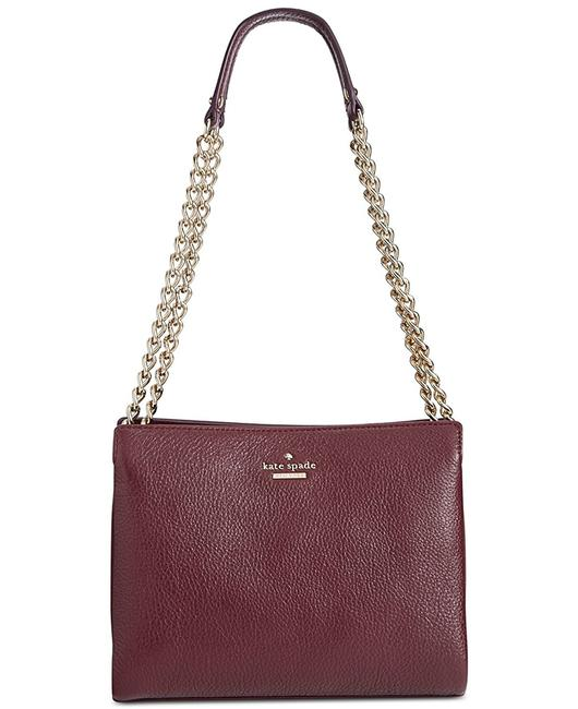 Item - New York Emerson Place Smooth Mini Convertible Phoebe Mahogany Pebbled Leather Shoulder Bag